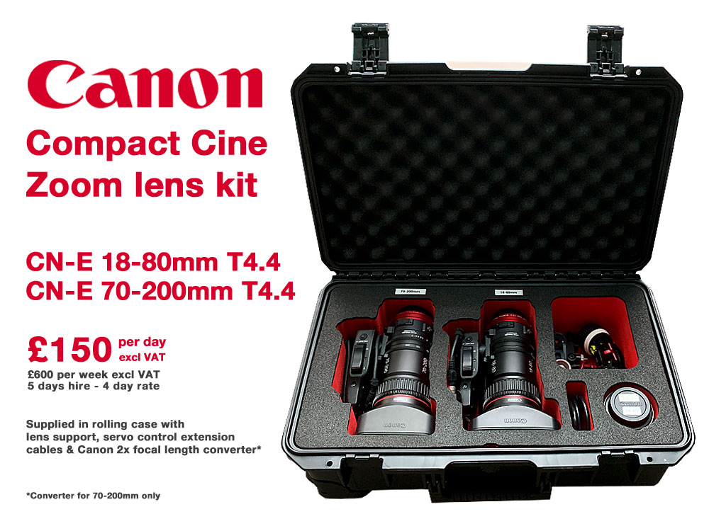 Canon CN=E Compact Cine Zoom Lens Kit | CN-E 18-80mm T4.4 L IS KAS S & CN-E 70-200mm T4.4 L IS KAS S