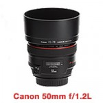 Canon EF 50mm f/1.2L lens for hire